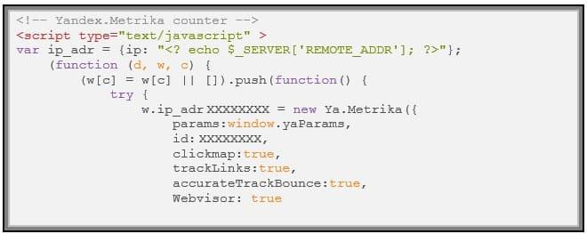 Как узнать ip посетителя в яндекс метрике