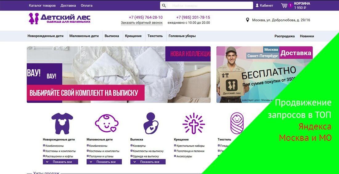 комерческое предложение по продвижение сайта в москве