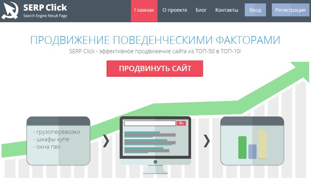 Serpclick сервис накрутки трафика на url