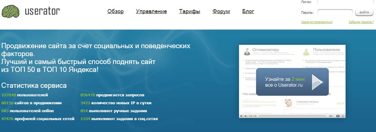 Userator сервис накрутки трафика на url